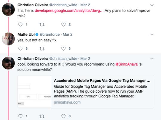Malte Ubl Twitter AMP Conversation